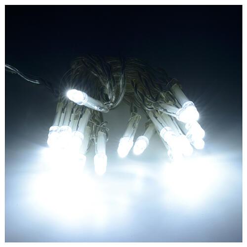 Guirlande lumineuse de noël 20 LED blanc froid avec piles 1