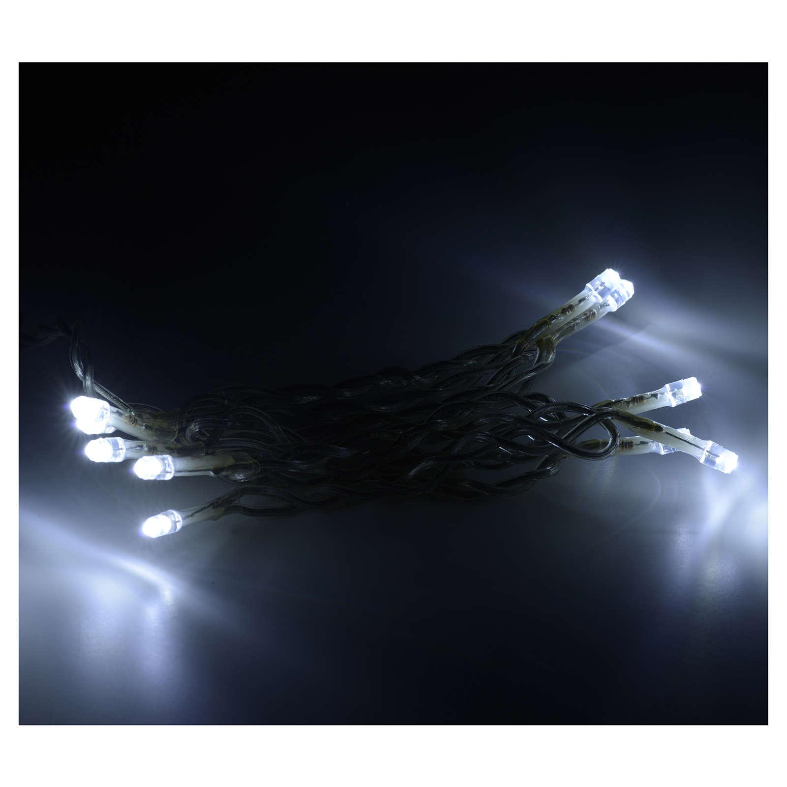 Luz navidad 10 led cable transparente para interno 3