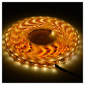 Christmas LED lights, 5mt strip, warm white, for outdoor use s2