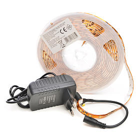 Christmas LED lights, 5mt strip, warm white, for outdoor use s3