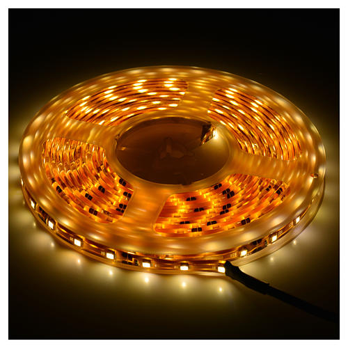 Christmas LED lights, 5mt strip, warm white, for outdoor use 2