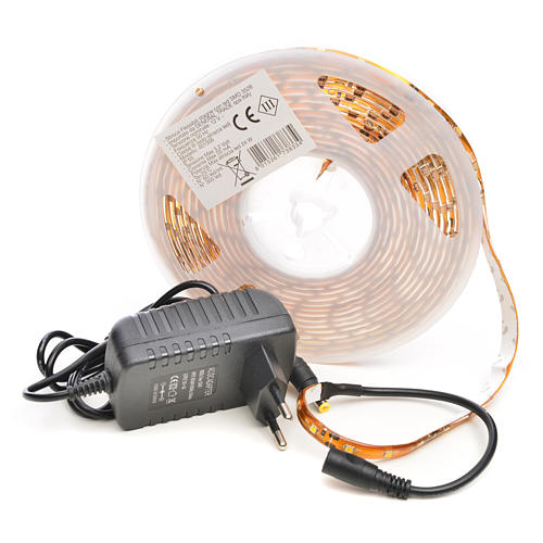 Christmas LED lights, 5mt strip, warm white, for outdoor use 3