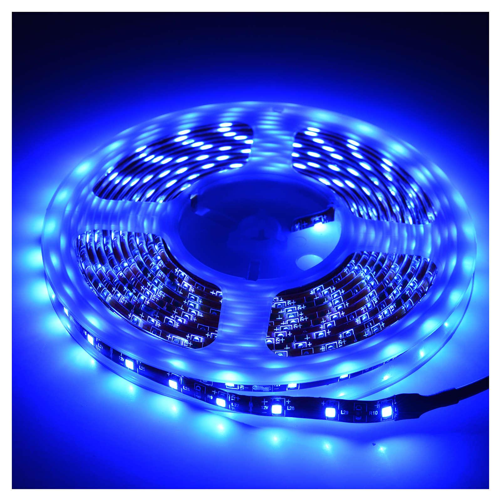 Luz de navidad tira de 5 mt. LED azul exterior 3