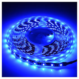 Luce natalizia, striscia 5 mt led blu per esterno s2