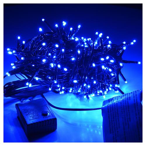 Luces de Navidad, 240 mini LED azules, interior exterior 2