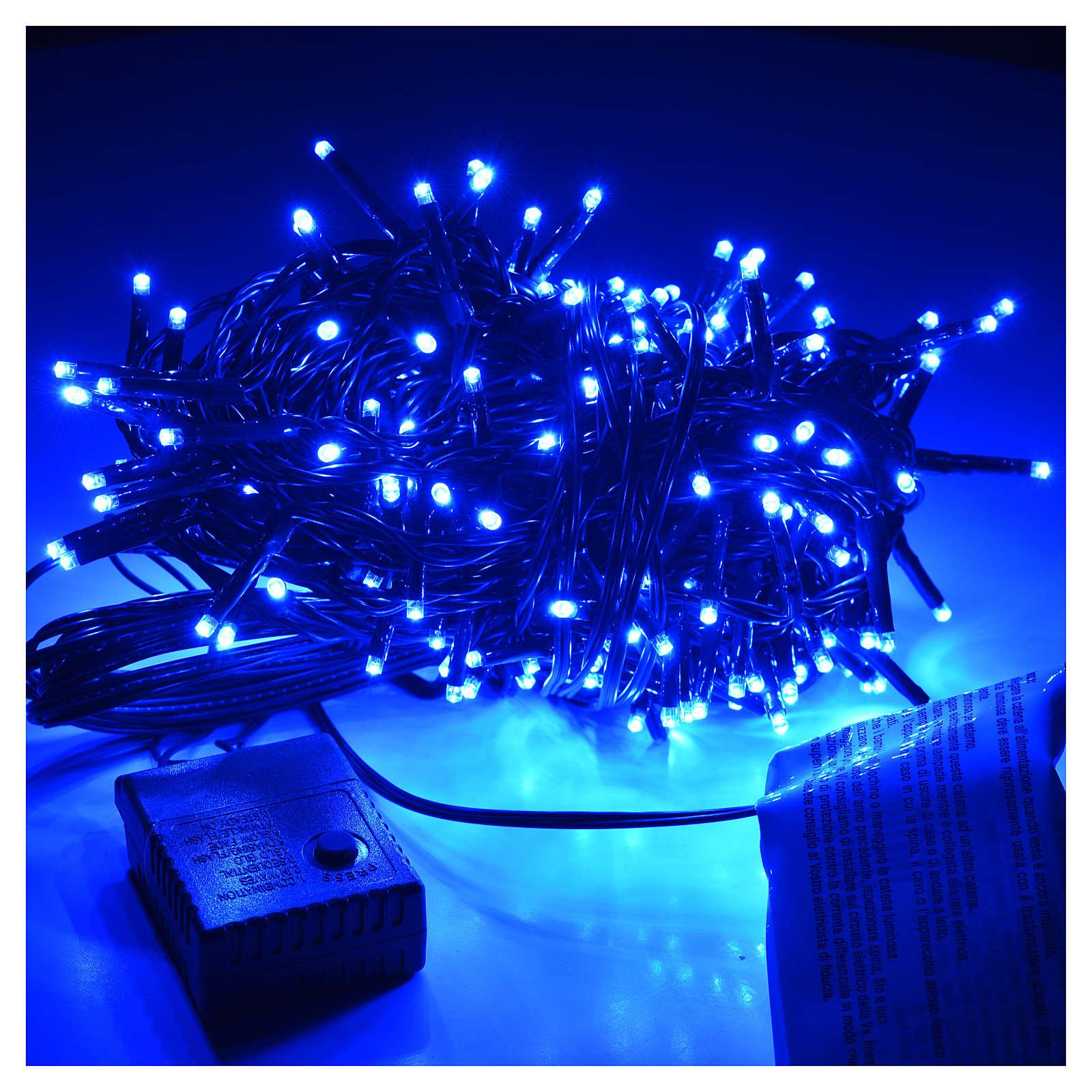 Luci Di Natale Esterno.Luci Di Natale 240 Miniled Blu Per Esterno Interno