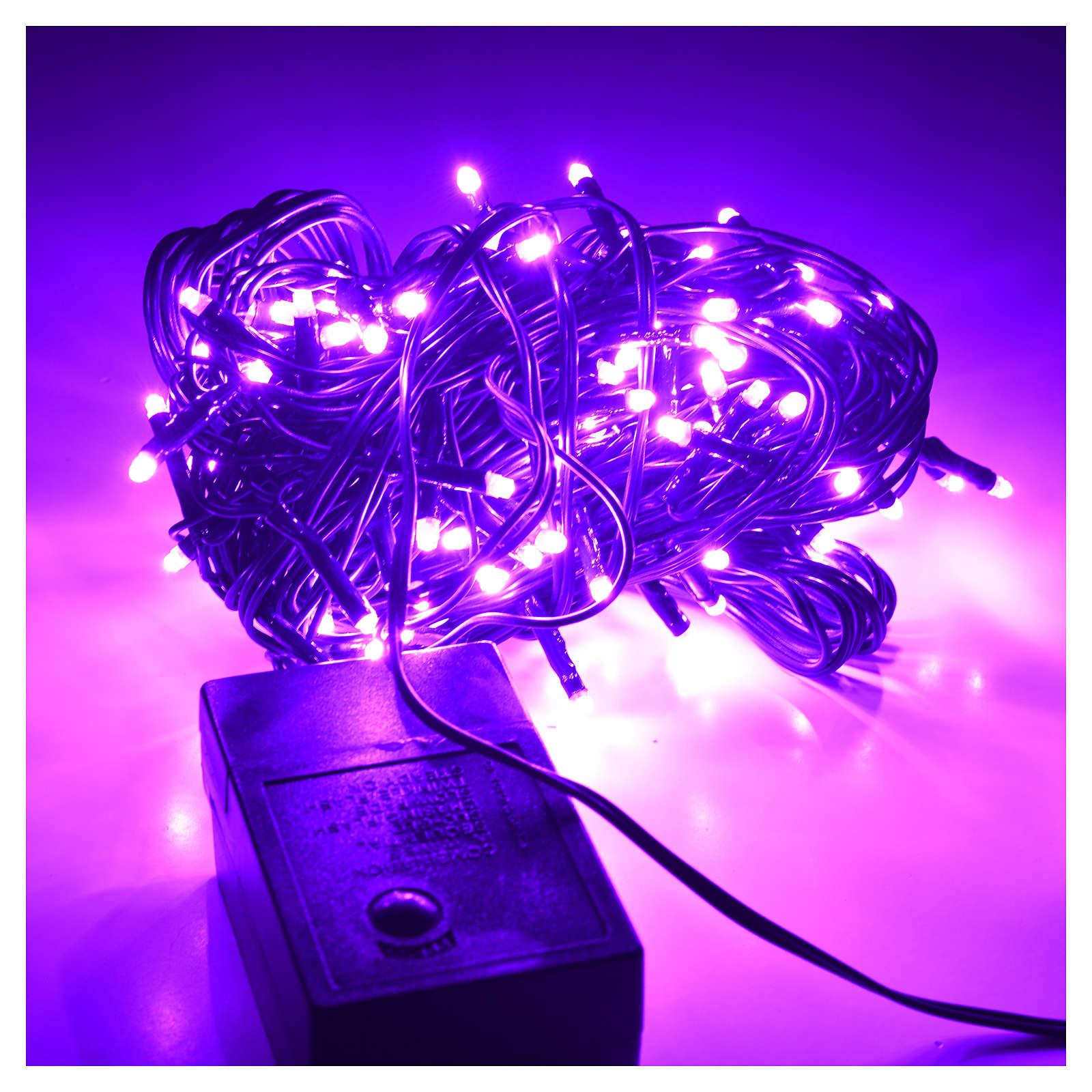 Luces de Navidad, 120 mini LED lila para exterior 3