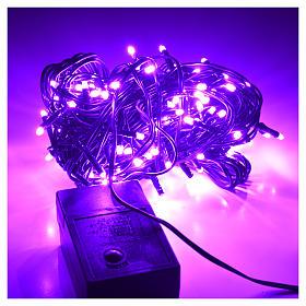 Luces de Navidad, 120 mini LED lila para exterior s2