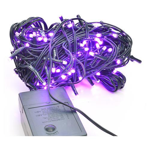 Luces de Navidad, 120 mini LED lila para exterior 1
