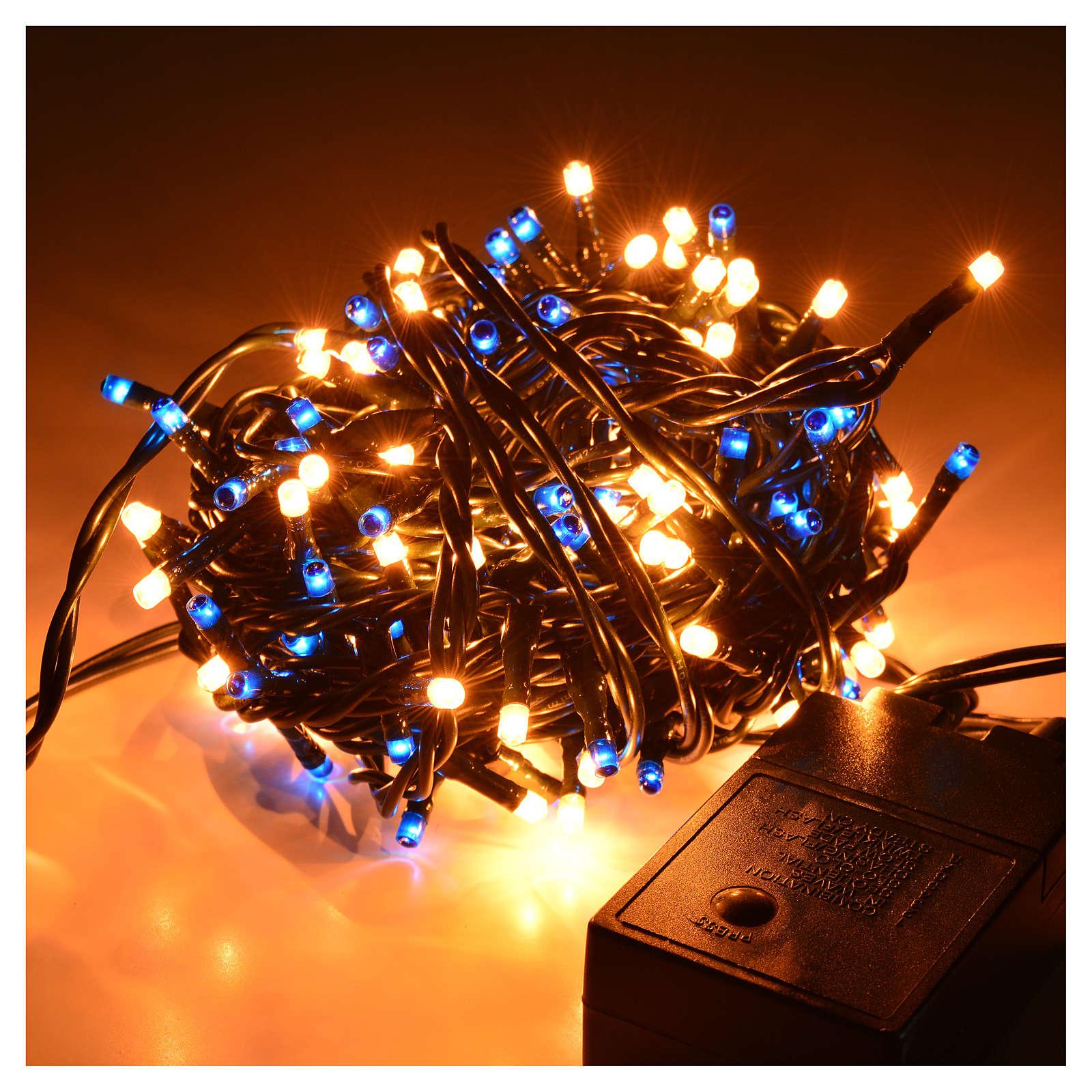 christmas lights 180 mini lights blue white indoor use 3
