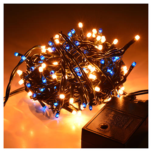 christmas lights 180 mini lights blue white indoor use 2