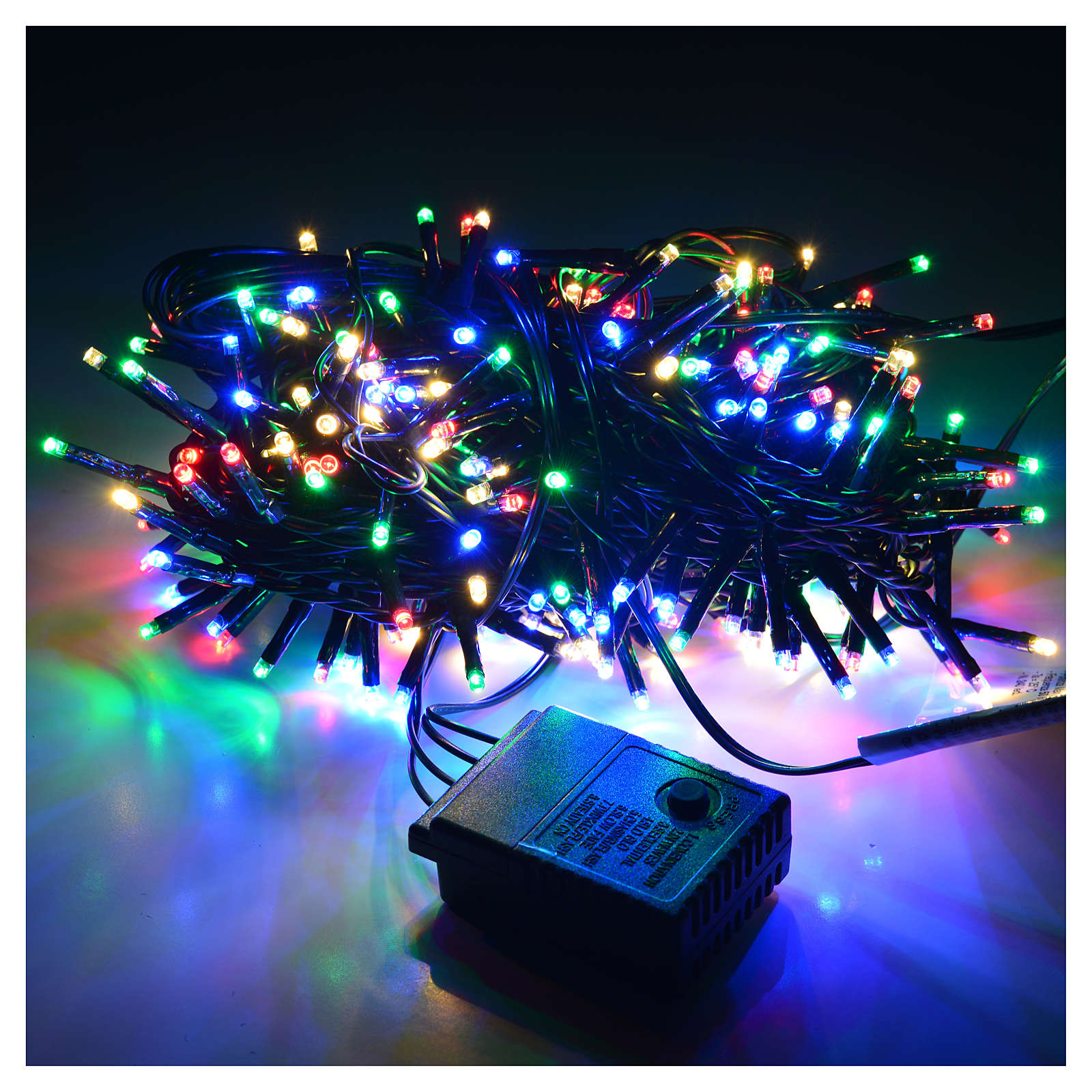 Luces de Navidad, 240 mini LED multicolores, interior exterior 3