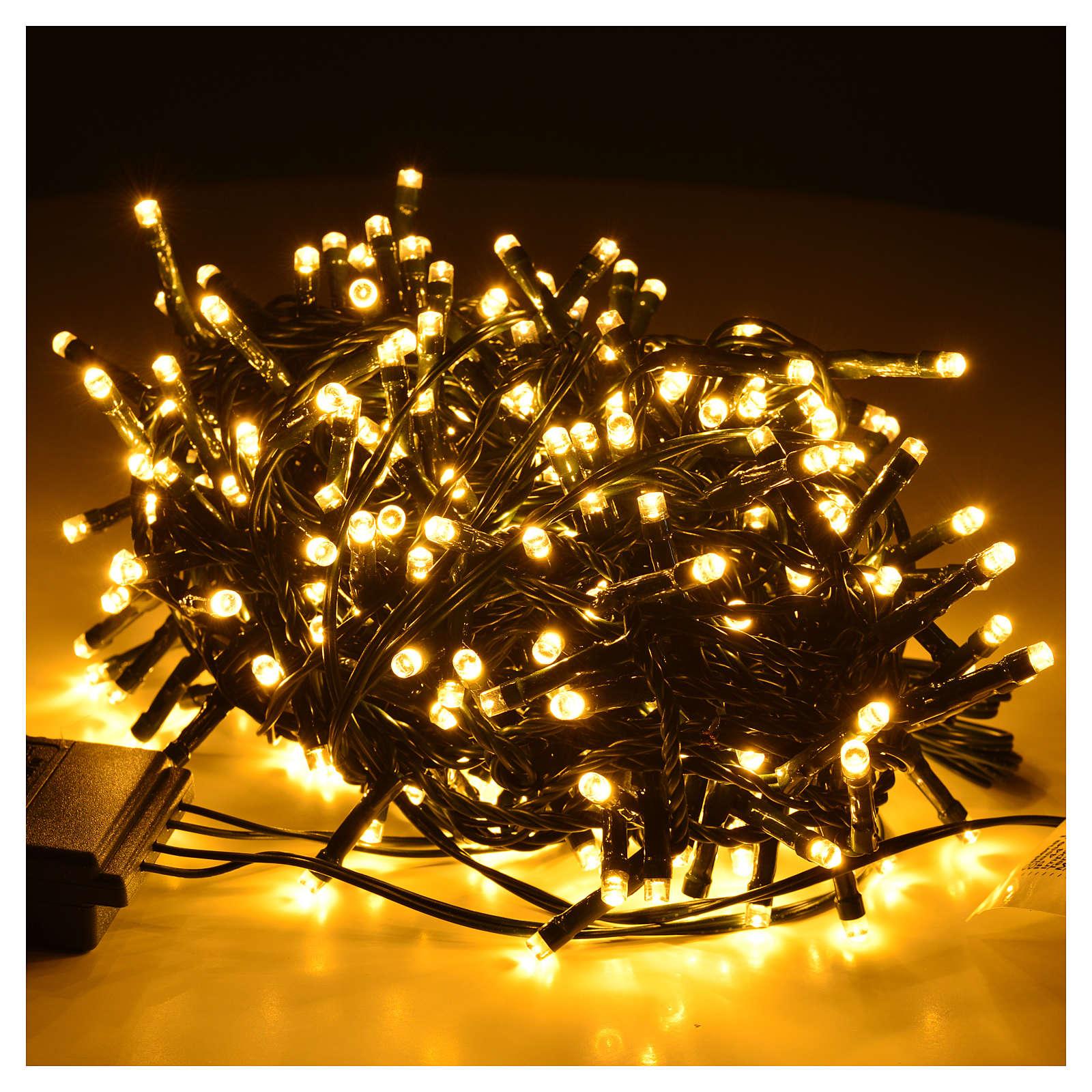 Luces de Navidad 300 LED blanco cálido para exterior-interior 3