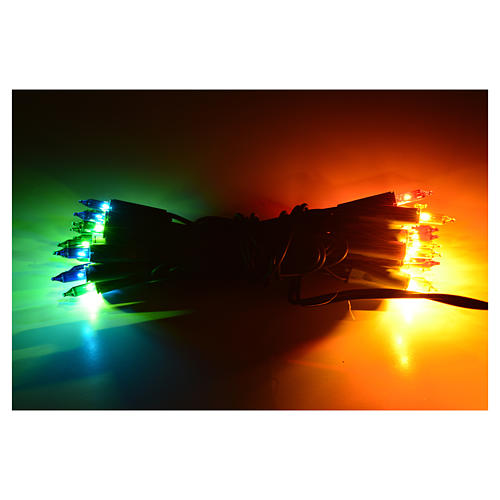 Éclairage Noël 35 petites ampoules multicolore intérieur 2
