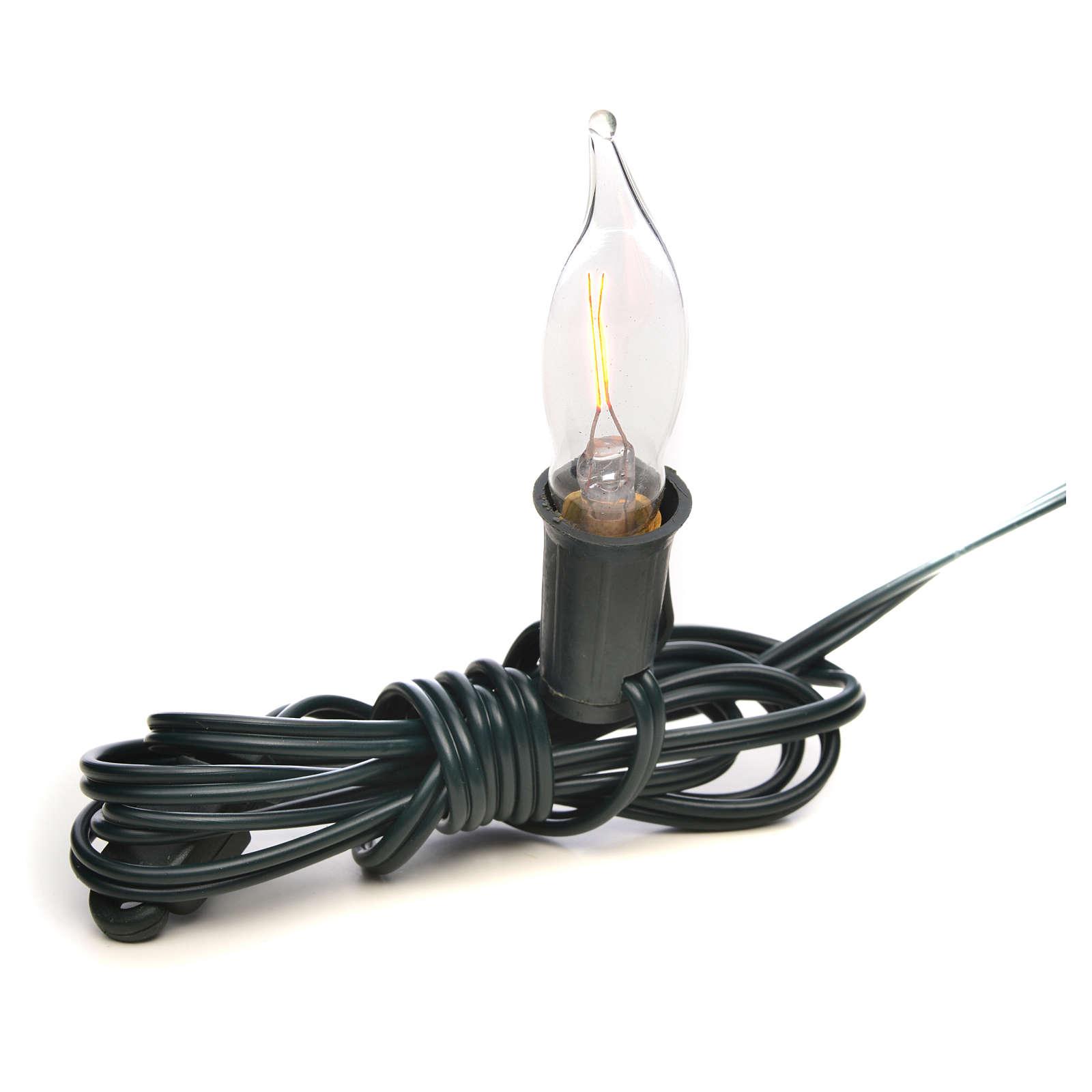 Luce fiamma bianca a corrente 1,5m cavo 4