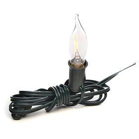 Luce fiamma bianca a corrente 1,5m cavo s1