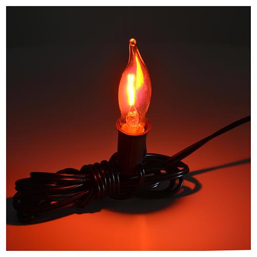 Luce fiamma bianca a corrente 1,5m cavo 2