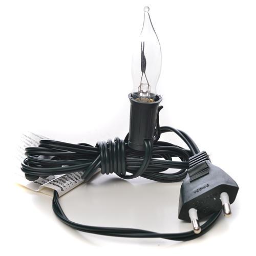 Luce fiamma bianca a corrente 1,5m cavo 3
