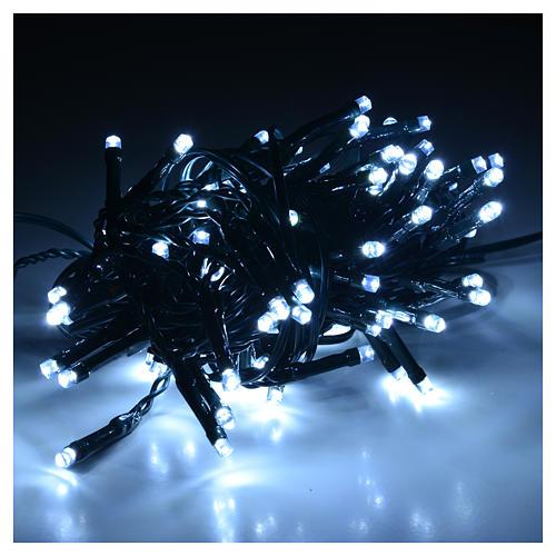 Guirlande lumineuse Noël 96 led blanc froid intérieur-extérieur 2