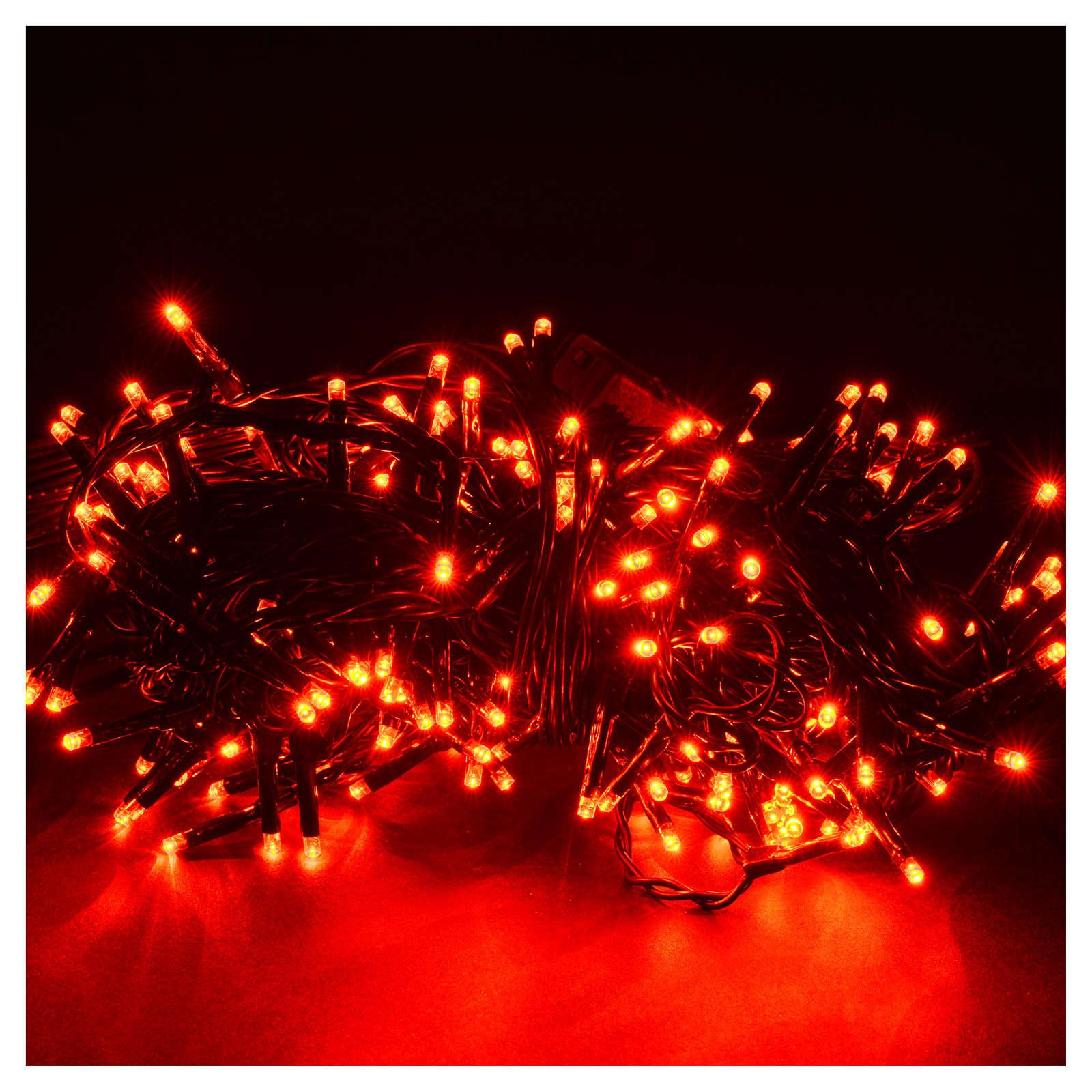 Luce natalizia 240 mini led rosse program con memoria per est/in 3