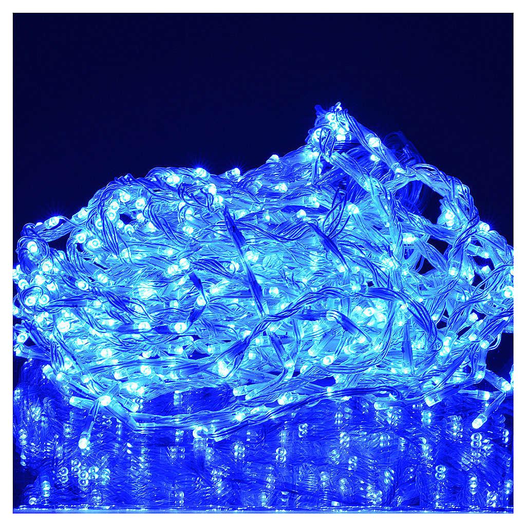 Rideau lumineux 576 leds éclairage extérieur bleu 3