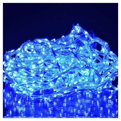 Rideau lumineux 576 leds éclairage extérieur bleu 2