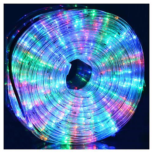 Luce natalizia tubo led 34 metri multicolor per esterno 2