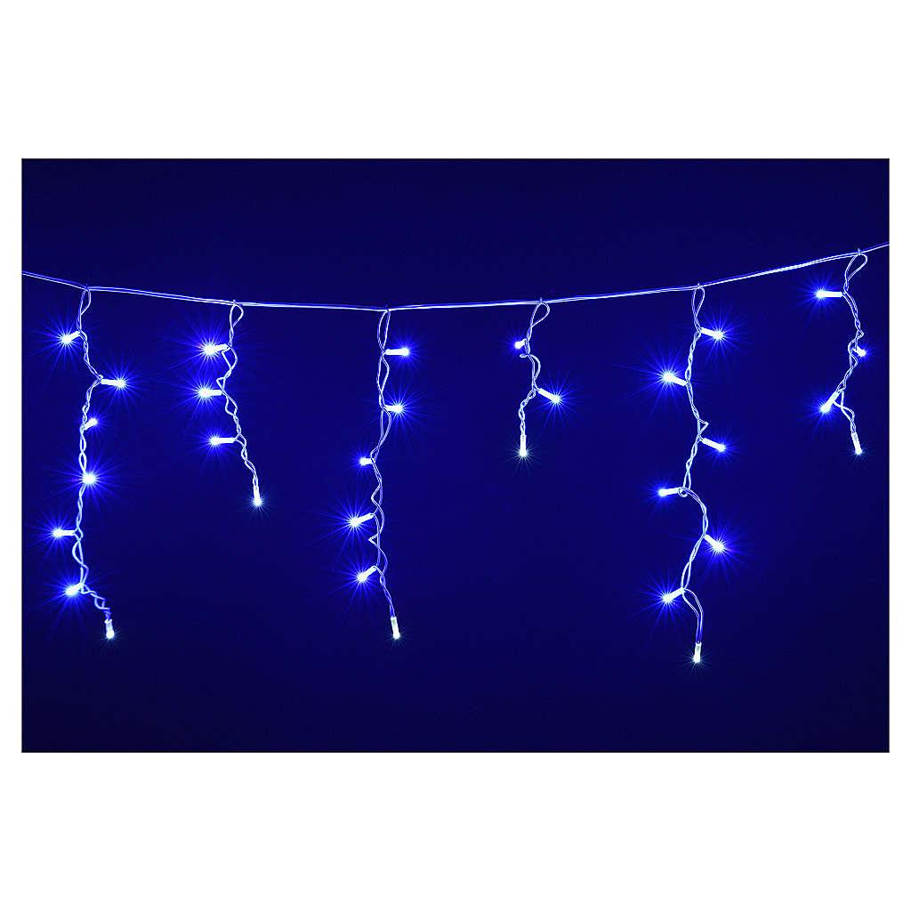Rideau lumineux 60 leds bleus pour extérieur 3