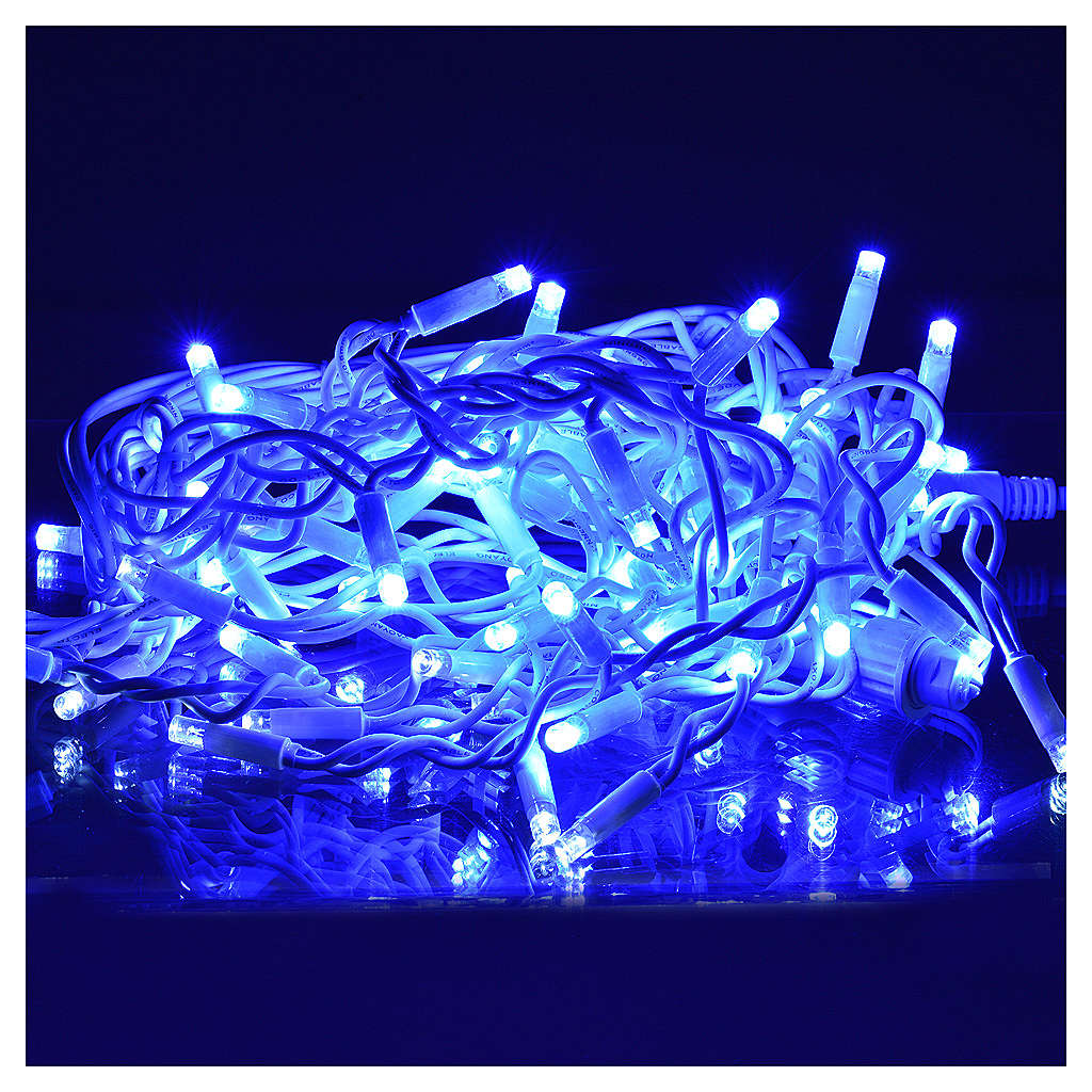 Luce Natale tenda luminosa 60 led blu per esterno 3