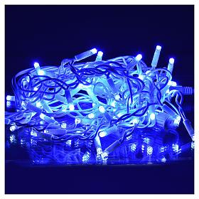 Luce Natale tenda luminosa 60 led blu per esterno s2