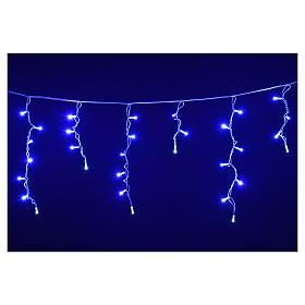 Luce Natale tenda luminosa 60 led blu per esterno s4