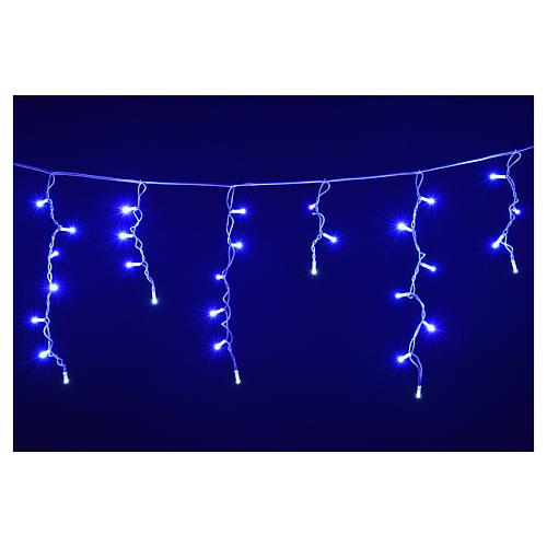 Luce Natale tenda luminosa 60 led blu per esterno 4