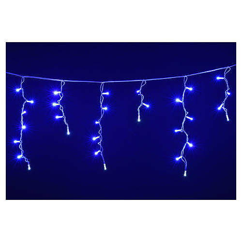 Christmas lights, LED curtain, 60 LED, blue, for outdoor use 4