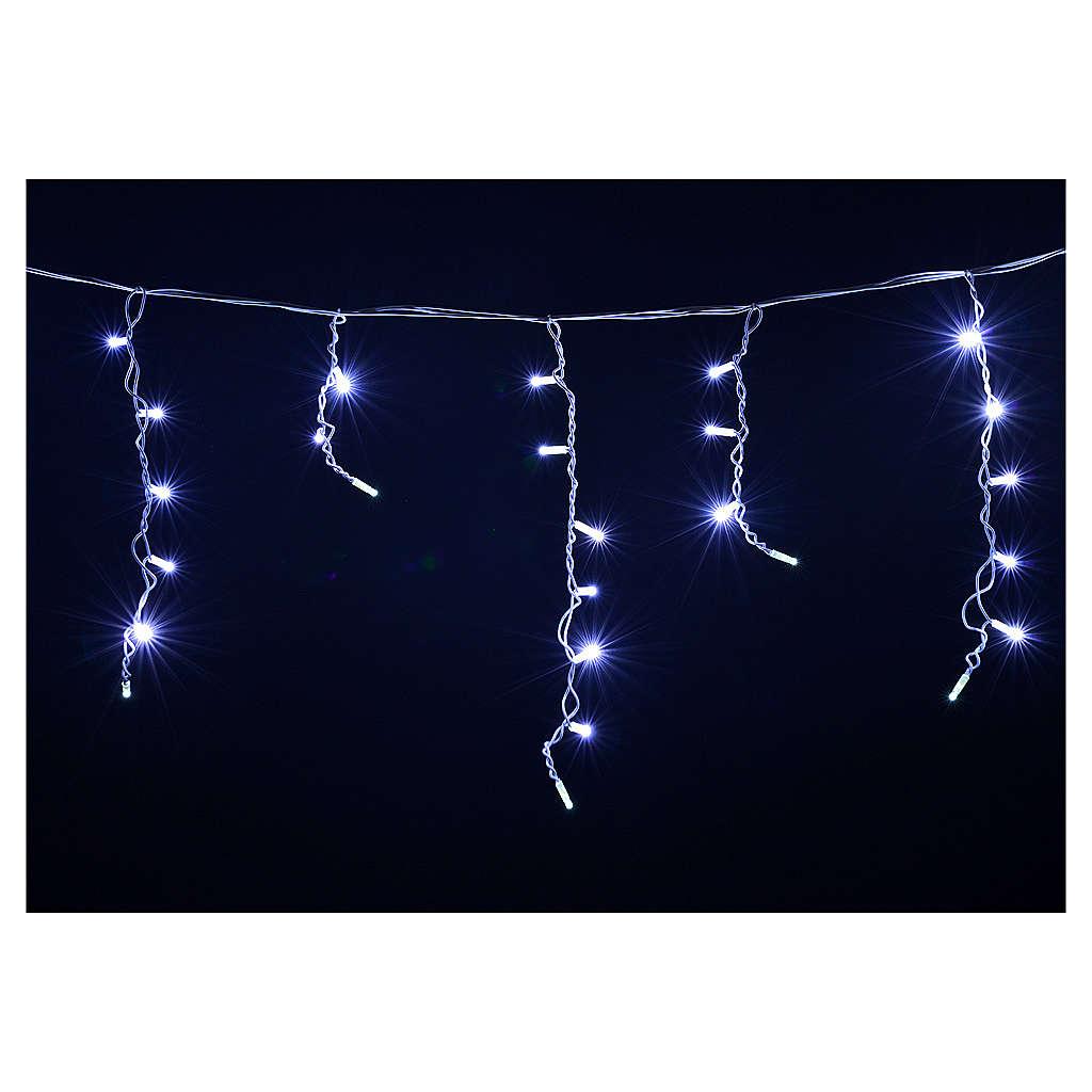 Luce Natale tenda luminosa 60 led bianco ghiaccio per esterno 3