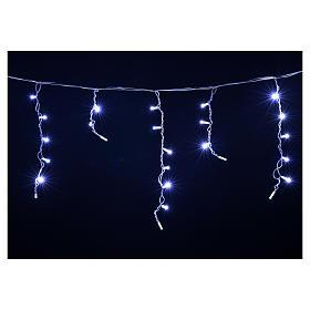 Luce Natale tenda luminosa 60 led bianco ghiaccio per esterno s4