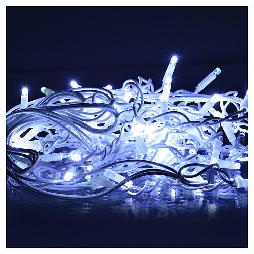 Luce Natale tenda luminosa 60 led bianco ghiaccio per esterno 2