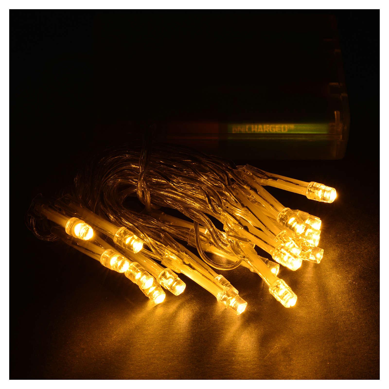 Luces de Navidad 20 LED blanco cálido con batería para interior 3