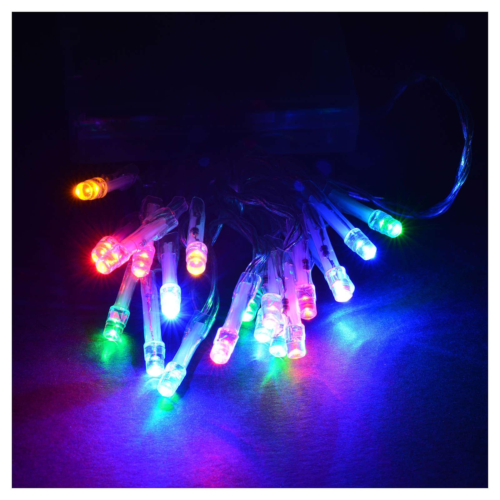 Luci natalizie catena 20 led batteria multicolor interni 3