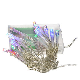 Luci natalizie catena 20 led batteria multicolor interni s1