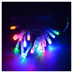 Luci natalizie catena 20 led batteria multicolor interni s2