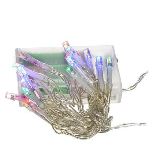 Luci natalizie catena 20 led batteria multicolor interni 1