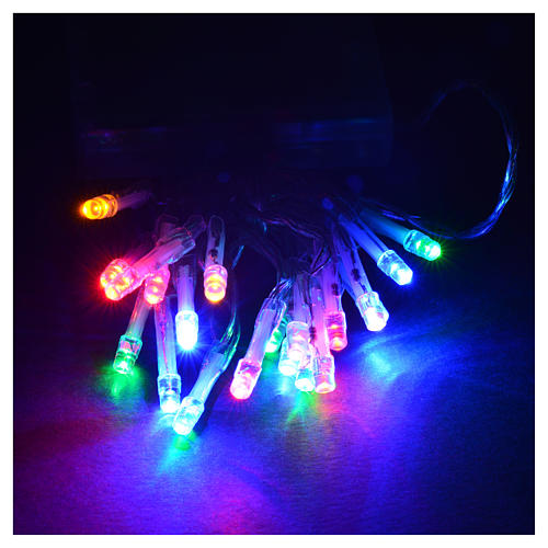 Luci natalizie catena 20 led batteria multicolor interni 2