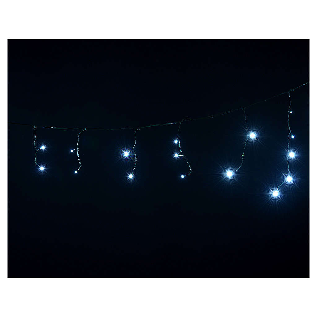 Christmas lights, LED curtain, 60 LED, ice white, programmable, 3