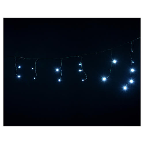 Christmas lights, LED curtain, 60 LED, ice white, programmable, 4