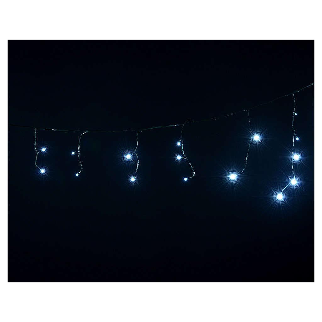 Cortina de luces de Navidad 60 LED blanco hielo tipo Ice programables para exterior 3