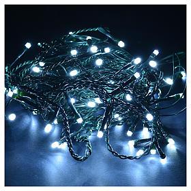 Cortina de luces de Navidad 60 LED blanco hielo tipo Ice programables para exterior s2
