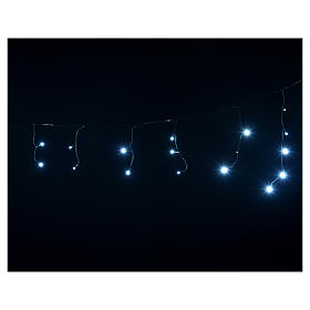 Cortina de luces de Navidad 60 LED blanco hielo tipo Ice programables para exterior s4