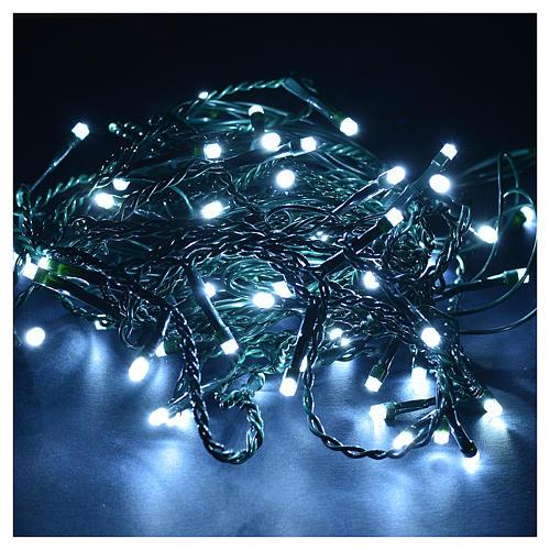 Cortina de luces de Navidad 60 LED blanco hielo tipo Ice programables para exterior 2