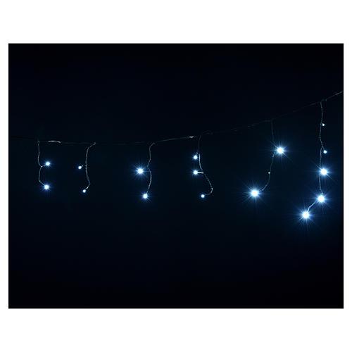 Cortina de luces de Navidad 60 LED blanco hielo tipo Ice programables para exterior 4