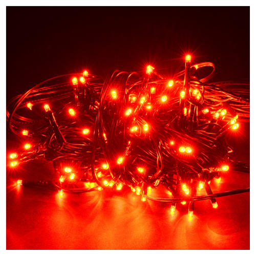 Fairy lights 120 mini LED, red, for outdoor/indoor use, programm 2